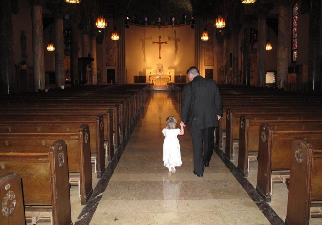 Keira And Her Daddy Walking Down The Aisle - May 2013